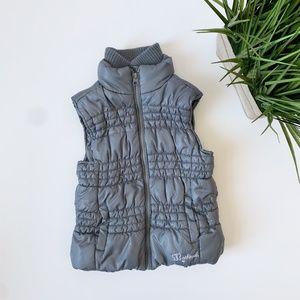OshKosh Lined Puffer Vest Grey Youth Size 7